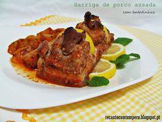 A vida de Nessy: Barriga de porco assada com batatas by Recanto com...