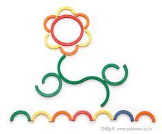 bloem met ringen en stokjes