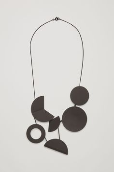 COS Circle metal necklace in Black
