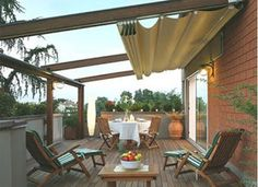 Sombra para patio Más Pergolas have already been redefined for the present day era. With therefore many options on the market, a pergola can be pu. Backyard Canopy, Garden Canopy, Canopy Outdoor, Outdoor Rooms, Backyard Patio, Outdoor Living, Deck Canopy, Window Canopy, Tree Canopy
