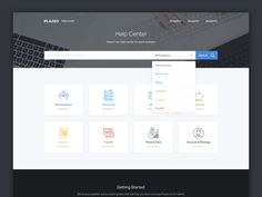 Help Center / Support Homepage designed by Oliur. Connect with them on Dribbble; the global community for designers and creative professionals. Zendesk Help Center, Graphisches Design, Graphic Design, Menu Design, Flat Design, Web Support, Support Center, Customer Support, Grid