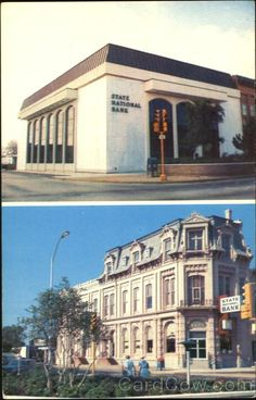 State National Bank - Denison, Texas  (Now & Then)
