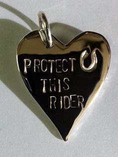 Horse jewelry! Protect this Rider Pendant. The Gorgeous Horse