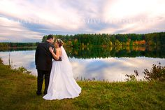 Wedding Photos at Sunset. Wedding Photography by Carrington Creative Photography