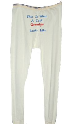 Long Johns, Cool Grandpa Looks Like, Custom Grandparent Gift, Thermals, Personalize With Name, No Shipping Fee, Ships TODAY, AGFT 251 Cobbler Aprons, Birthday Gag Gifts, Adult Bibs, Grilling Gifts, Letterbox Gifts, Long Johns, People Shopping, Grandparent Gifts, Sewing Studio