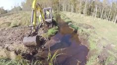 Wacker Neuson acted as consultant for Solutions 101, a company that was contracted to construct a new stream channel in the Ulao Creek Watershed in Grafton, WI.