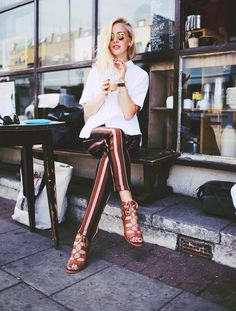 Fashiolista.com | Stripey pants | Framboise Fashion