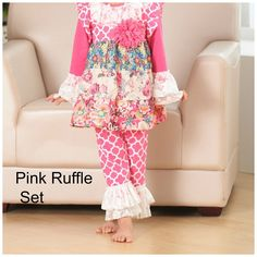 $24.99   Girls Boutique Ruffle Fall Outfit Sets   Jane