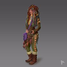 Emolnir (half-elf) shaman. Concept art for the aborted and unpublished Nemundir rpg startup from 2014-2015. #concept #conceptart #artofkaa #nemundir #illustration #emolnir #halfelf #shaman #character #characterdesign #characterconcept #crystalpunk #rpg #startup #unpublishedartofkaa