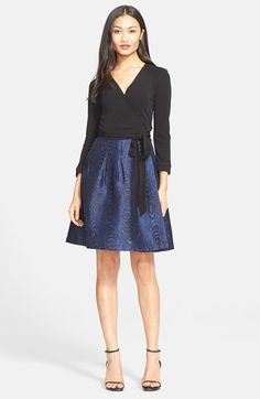 Free shipping and returns on Diane von Furstenberg 'Jewel' Print Wrap Dress at Nordstrom.com. Inky black and a saturated woodgrain print create the impression of separates on an endlessly chic incarnation of Diane von Furstenberg's iconic wrap dress, perfect for office or evening wear.