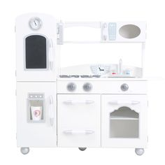 Kidkraft Kitchen White kidkraft vintage wooden play kitchen set, blue | plays, vintage