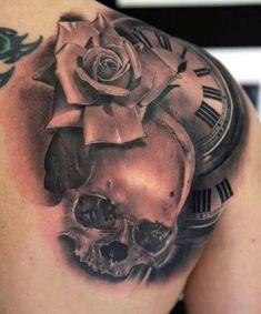 tatouage-tete-de-mort-et-rose-48.jpg (698×839)