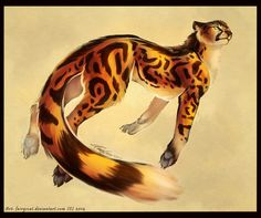 They are very beautiful creatures, but it is fairly the rare the mutations cheetah. They live in Africa, have a larger and more densethan the average cheetah. They face the threa. Mythical Creatures Art, Magical Creatures, Fantasy Creatures, Beautiful Creatures, Big Cats Art, Furry Art, Cat Art, Animal Sketches, Animal Drawings