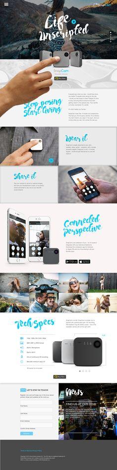 SnapCam Microsite Landing Page