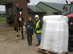 OiPPS delivery has arrived! 210 new buckets donated to The Horse Trust :)