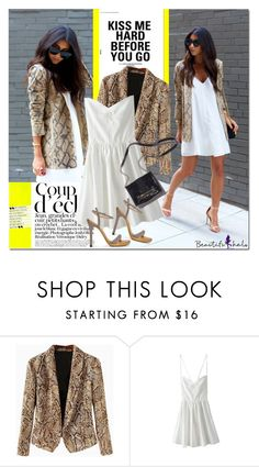 """""""Snake skin blazer"""" by never-alone ❤ liked on Polyvore featuring Bela"""