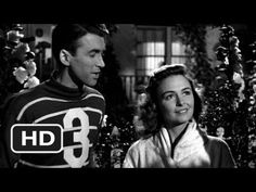 """It's a Wonderful Life - Lasso the Moon (1946). This is such a great clip, from a great movie.  Jimmy Stewart is so cute as he bumbles and stumbles through the early stage of romance.  I like when the neighbor chimes in:  """"Why don't you kiss her.. instead of talking her to death!""""  Gotta lasso that moon some day.  :)"""