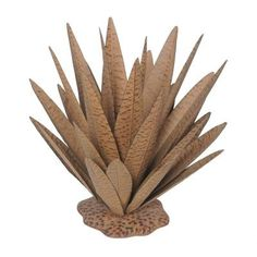 Sunjoy 20 in. Metal with Rust Finish Large Agave Garden Statue-110318009 - The Home Depot
