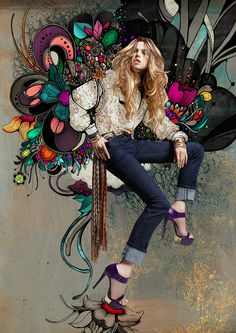 Amazing. Fashion art by Linn Olofsdotter for Portmans :)