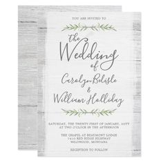 Shop Rustic Wood & Botanical Leaves Wedding Invitation created by CyanSkyCelebrations. Personalize it with photos & text or purchase as is! Wood Wedding Invitations, Southern Wedding Invitations, Shower Invitations, Wedding Stationery, Wedding Designs, Wedding Ideas, Wedding Fun, Wedding Gifts, Wedding Venues