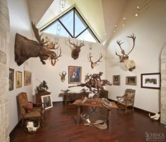 Home on the Range - Schenck & Company Man Cave Guns, Texas Ranch Homes, Mesquite Wood, Gun Rooms, Trophy Rooms, Curved Wood, Hardwood Floors, Wood Flooring, Home On The Range