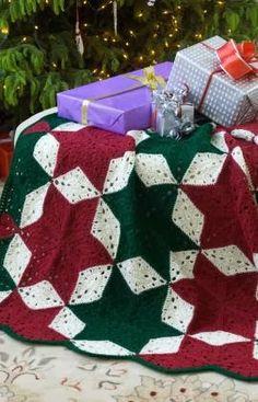 Free Christmas Star Afghan Crochet Pattern