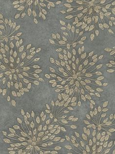 Floral Wallpaper - Dusty Green-Blue and Vanilla Fabric Wallpaper, Flower Wallpaper, Pattern Wallpaper, Dandelion Wallpaper, Book Wallpaper, Pretty Patterns, Beautiful Patterns, Color Patterns, Textiles