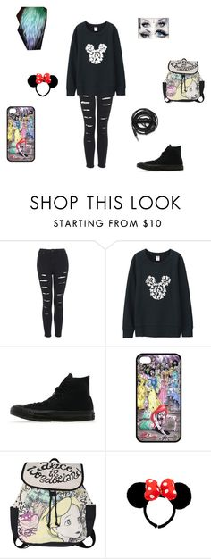 """day at disney"" by xxpiercetjessxx on Polyvore featuring Topshop, Uniqlo, Converse, Disney and Urbanears"