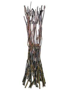 Groovystuff's Haystack floor lamp is made of sustainably harvested teak branches. #lvmkt B146. www.groovystuff.com