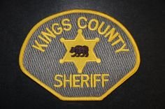 Kings County Sheriff Patch, California (Current 1990 Issue)