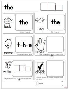 Joyful Learning In KC/ sheet for Word work