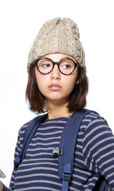 ニット帽(ビーニー)無料編み図。knit hat free pattern