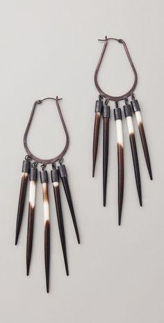 // quill earrings