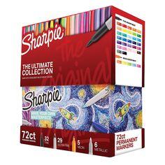 Sharpie Permanent Markers Ultimate Collection, Fine and Ultra Fine Points, Assorted Colors, 72 Count Permanent Marker, Marker Pen, Cute School Supplies, Diy Supplies, Sharpies, Sharpie Pack, Coloring For Kids, Coloring Pages, Sharpie Colors