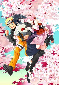 Naruto, Sasuke, and Sakura. Two brothers and their sister Naruto And Sasuke, Anime Naruto, Naruto Shippuden, Naruto Team 7, Naruto E Boruto, Naruto Cute, Naruto Sasuke Sakura, Sarada Uchiha, Manga Anime