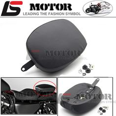 Motorcycle Rear Passenger Cushion 6 & 8 Suction Cups Pillion Pad Suction Seat For Harley Dyna Sportster Softail Touring XL 883 1