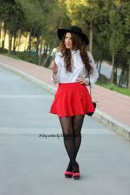 b19caa0fee 12 mejores imágenes de faldas rojas  )