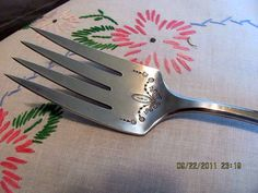 Silverplate Serving Meat Fork by Comunity by VintageLoversShop, $12.00