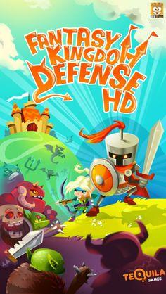 手机游戏界面设计《梦幻王国保卫战》GUI...
