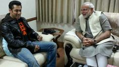Narendra Modi-BJP's prime ministerial candidate-With actor Salman Khan-India