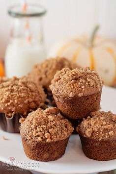 Mini Pumpkin Gingerbread Muffins...love the addition of flaxseed. I know that to make it vegan, but go me it's great for all the good health reasons for us not usually vegans