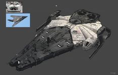 This stealth bomber-inspired design of the Millennium Falcon is one of 60 concepts made for Solo: A Star Wars Story. Star Wars Clones, Rpg Star Wars, Nave Star Wars, Star Wars Ships, Star Wars Clone Wars, Star Trek, Spaceship Design, Spaceship Concept, Concept Ships