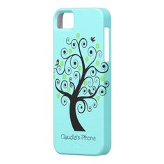 Tree with birds iPhone 5 covers by CartoonsStuff