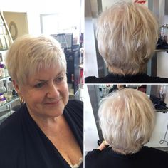 60 Best Hairstyles and Haircuts for Women Over 60 to Suit any Taste : Short Layered Blonde Hairstyle Over 60 Hairstyles, Curly Pixie Hairstyles, Very Easy Hairstyles, Modern Hairstyles, Feathered Hairstyles, Short Hairstyles For Women, Straight Hairstyles, Latest Hairstyles, Hairstyles Haircuts