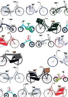 Alle van de fietsen! Tous les vélos! #bikes