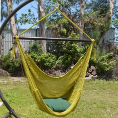 Amazon.com : Large Caribbean Hammock Chair - 48 Inch - Polyester - Hanging Chair - olive : Patio, Lawn & Garden
