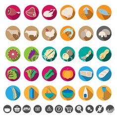 Food color icon #buttons #designs #internet, #tools #icon #technology #image #decoration #market #buy #sales #people #mall #concept #online #commerce #graphic #vector