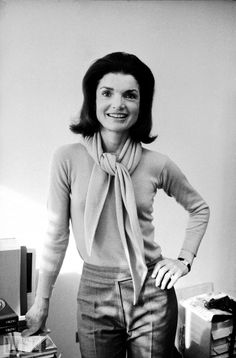 Still a style icon, this business casual look Jackie is sporting could still be worn today.