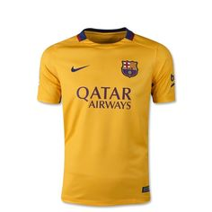 Nike Barcelona Youth Away Jersey (Yellow/Red)