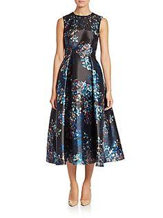 LK Bennett Floral Print Tea Dress